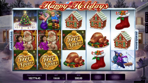Happy Holidays Free Spins