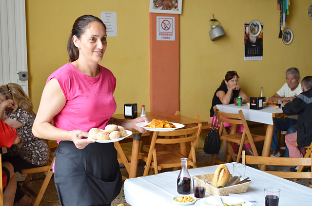 Friendly waitress, La Orotava, Tenerife