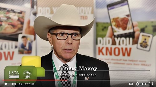 Jimmy Maxey, Cattlemen's Beef Board video screenshot