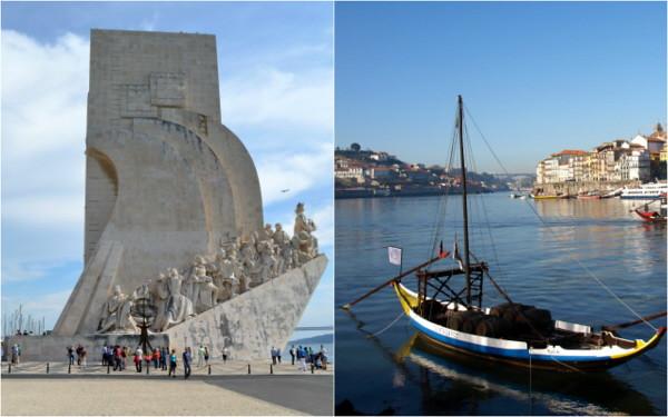Lisbon (L) and Porto