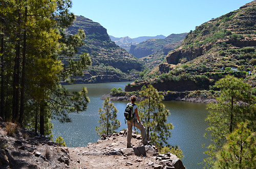 Looking over Presa Perez, Tamadaba, Gran Canaria