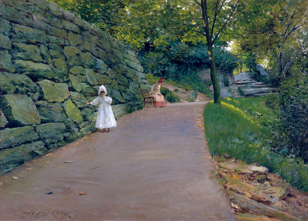 In the Park - a By-Path by William Merritt Chase, 1890