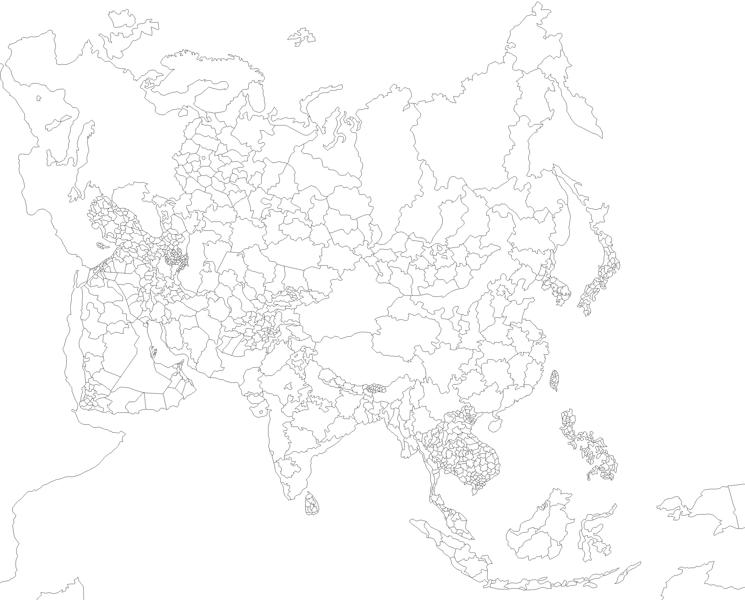 Free Blank Maps Template Maps For Coloring Free To Download And Use - Blank map of asia