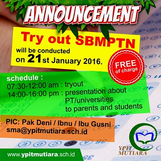 Try Out SBMPTN 2016
