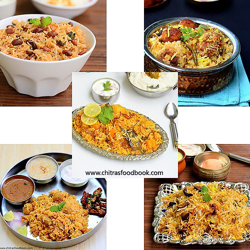 Veg Biryani Recipes Collection Of 40 Veg Biryani Varieties Chitra S Food Book