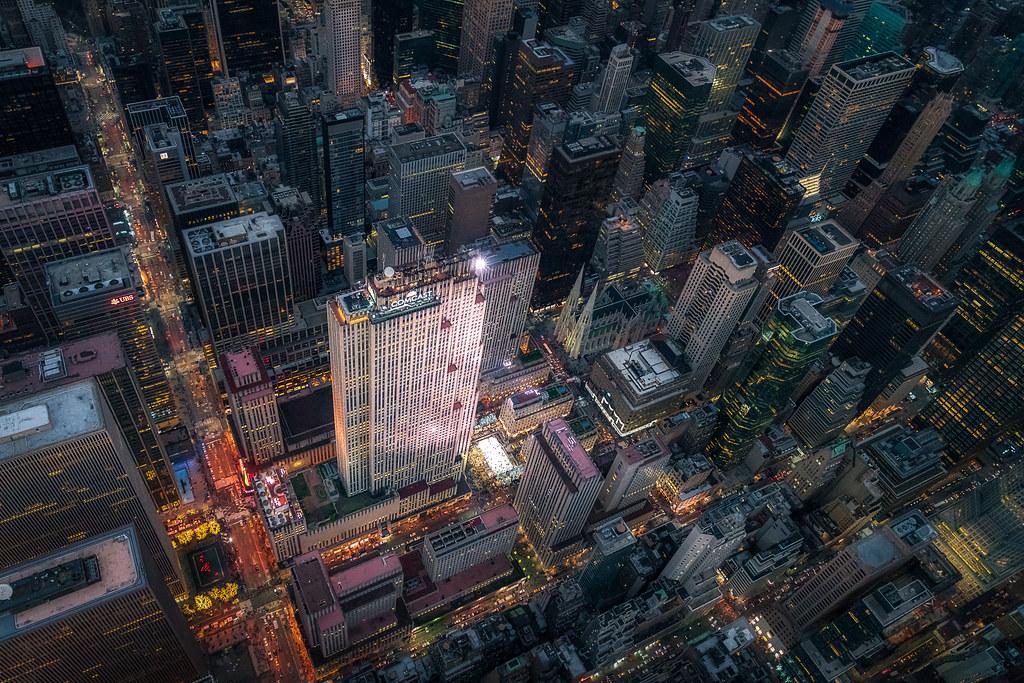 New York Aerial Winter In Rockefeller Center We Left