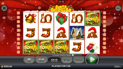 free Santa Surprise Mobile slot free spins