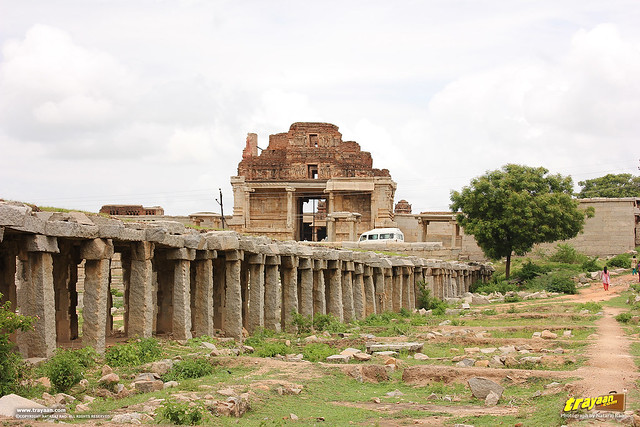 Krishna temple Bazaar in Hampi, Ballari district, Karnataka, India