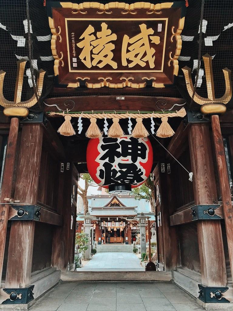 kushida shrine, fukuoka.  kushida-jinja or kushida shinto ...