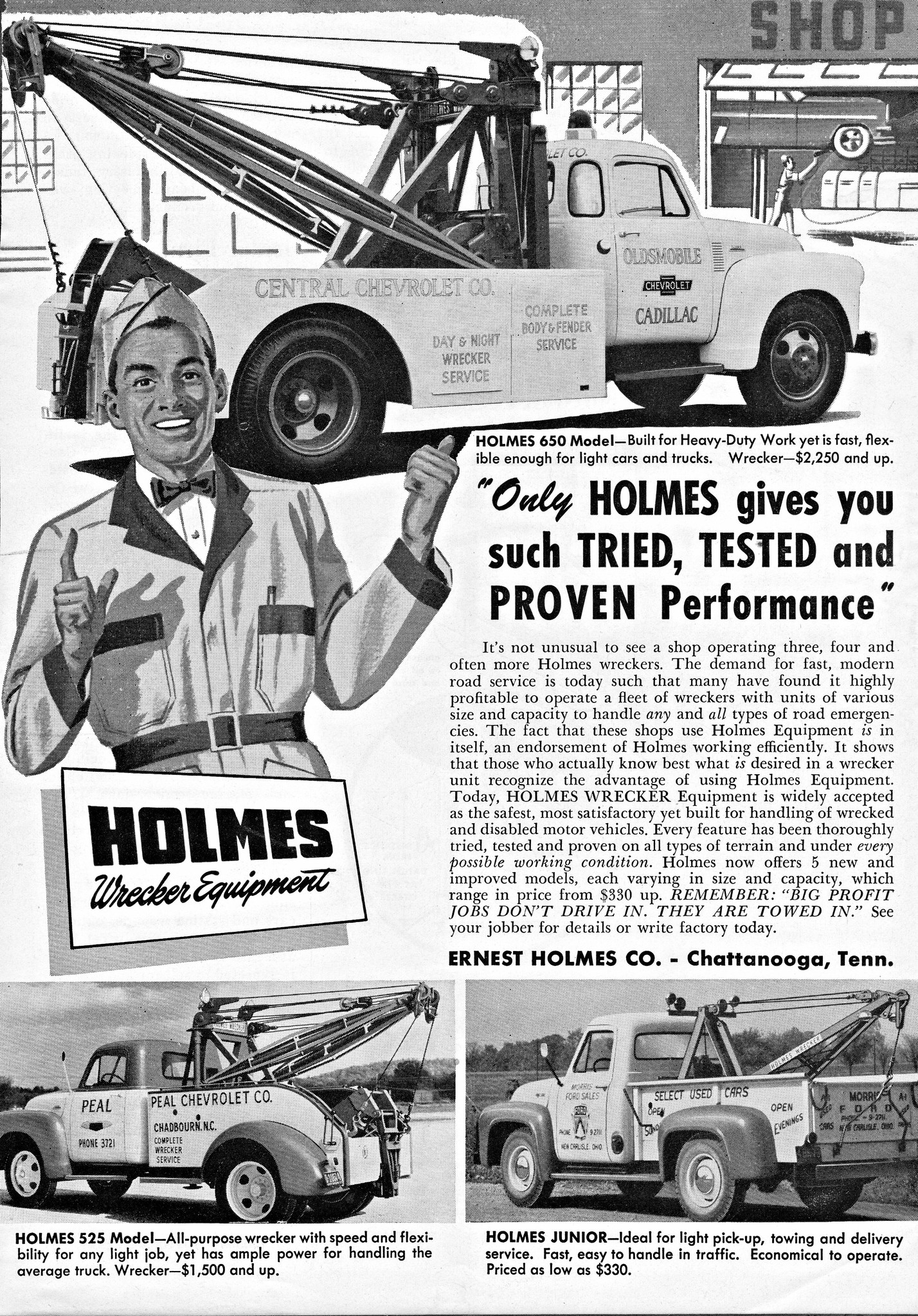 Holmes Wrecker Equipment - 1954