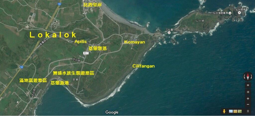 基翬區域地圖