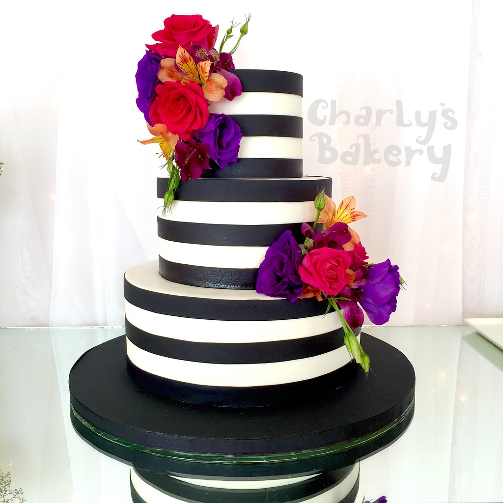 Tiered Floral Wedding Cakes