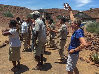 Team Damaraland Camp mit Verstärkung
