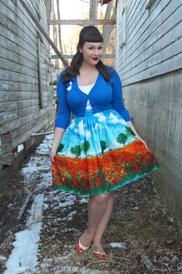 bernie dexter poppy skirt