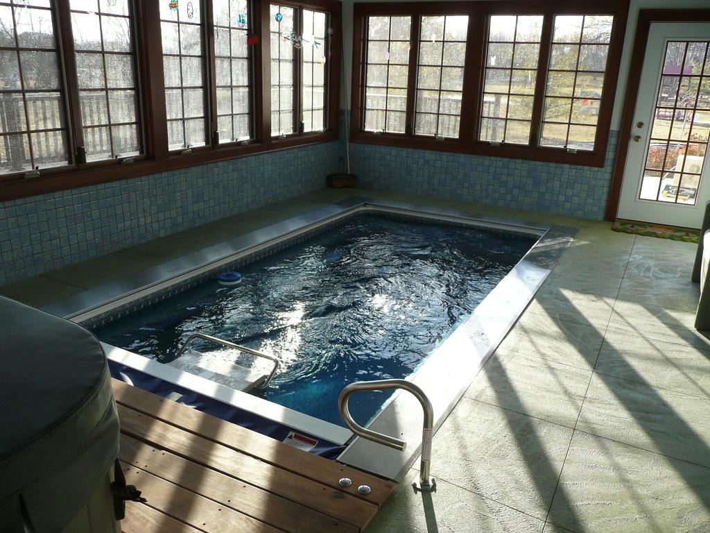 Endless pools swimming machine this indoor inground - Indoor swimming pool temperature regulations ...