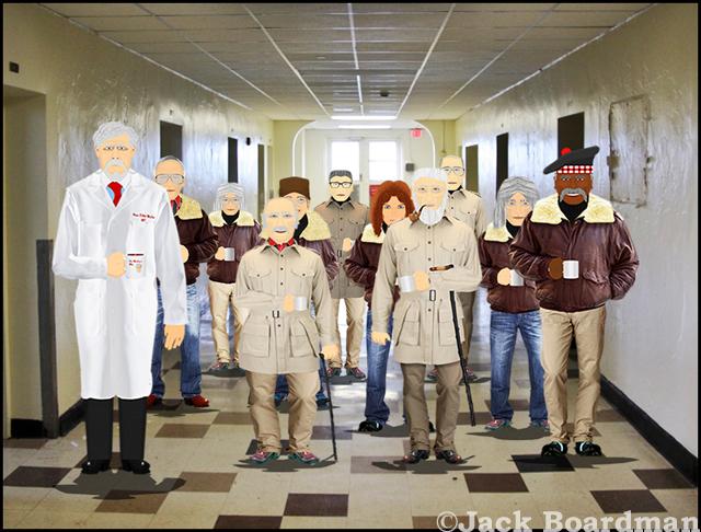 At Moosehead County Hospital, waiting ©Jack Boardman