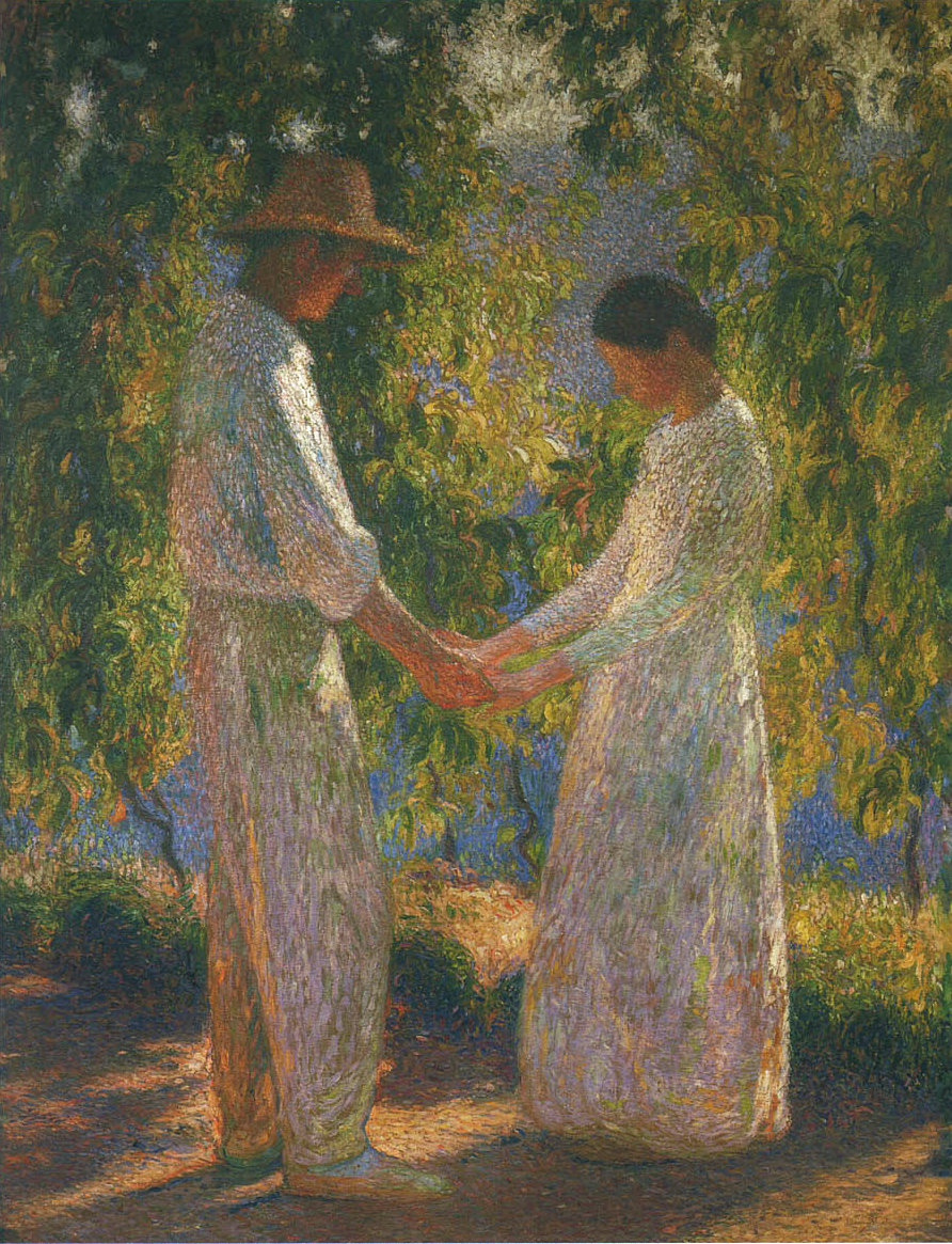 The Lovers by Henri Martin (French, 1860 - 1943).