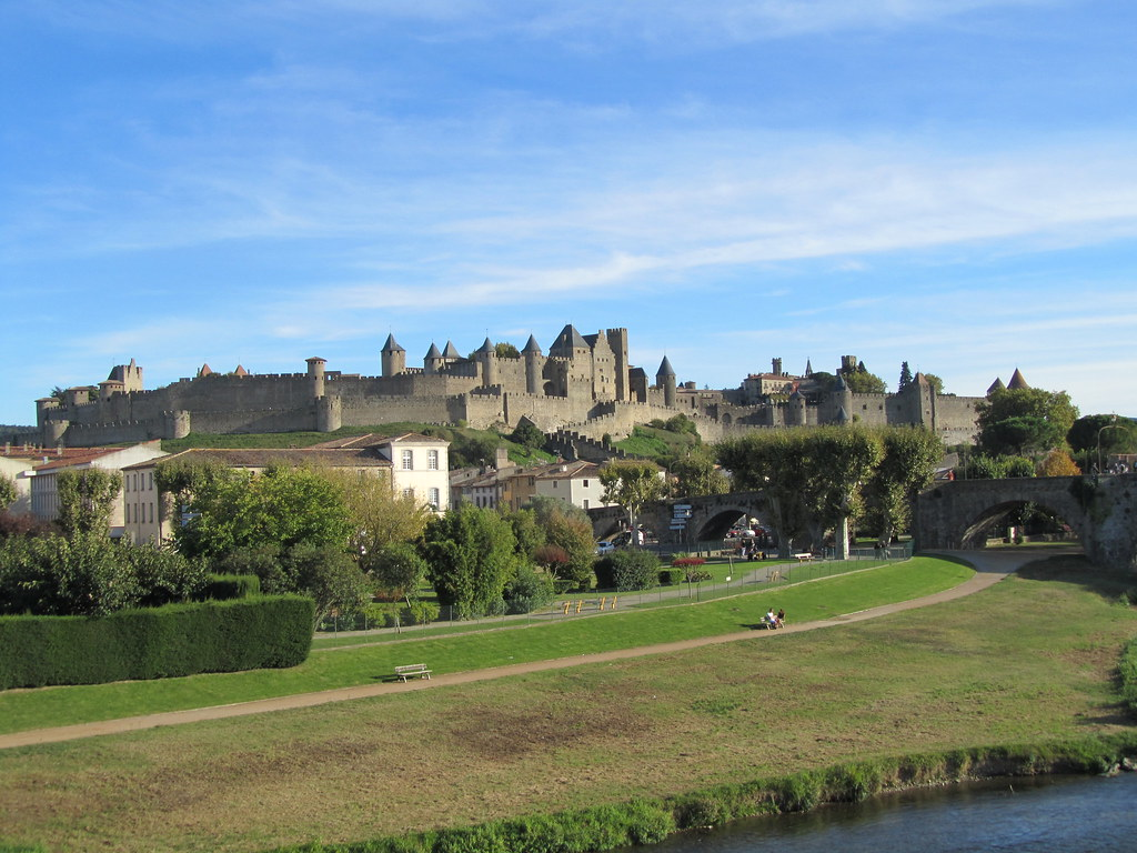 Castle of Carcassonne from the new bridge