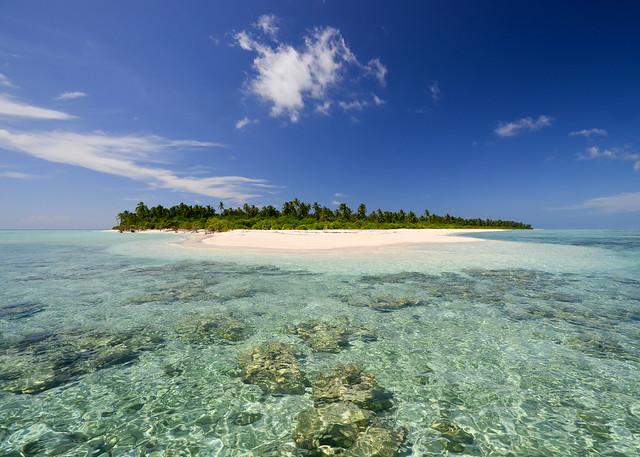 Isla de Vodamulaa sin resort, una de las más bonitas de las islas Maldivas