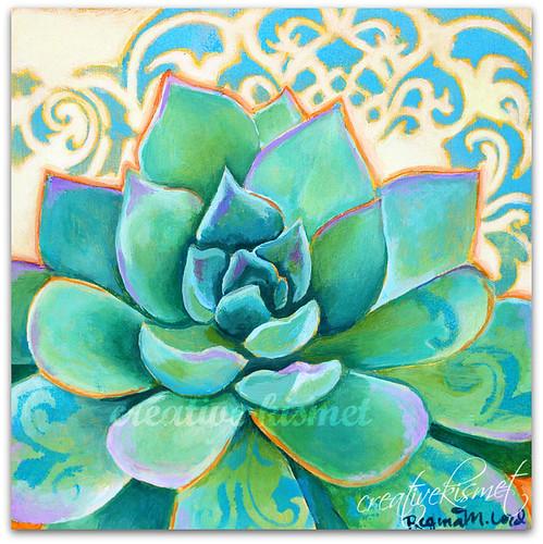 Succulent - Art by Regina Lord