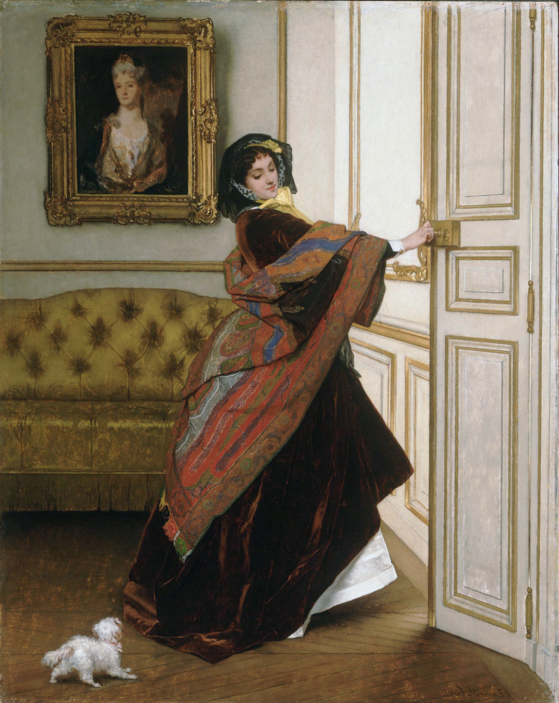 Departing for the Promenade, by Alfred-Émile-Léopold Stevens, 1859