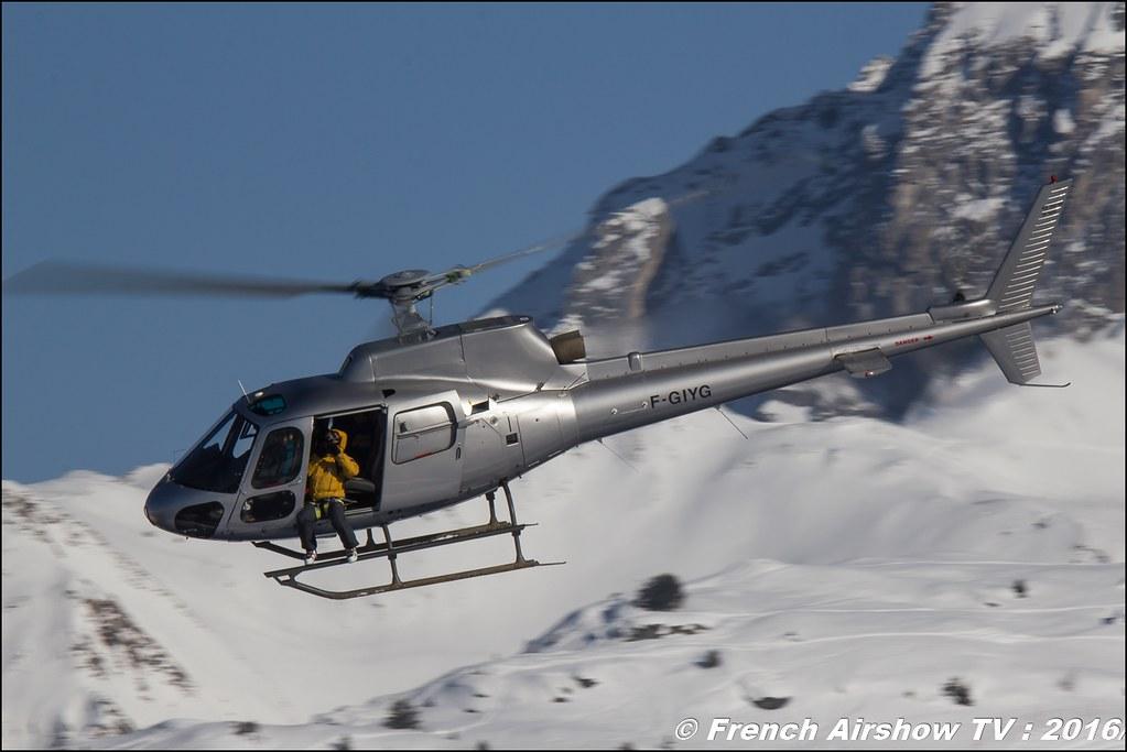 Aérospatiale AS-350 B Ecureuil - F-GIYG, Salon Hélicoptère à Courchevel 2016, Meeting Aerien 2016