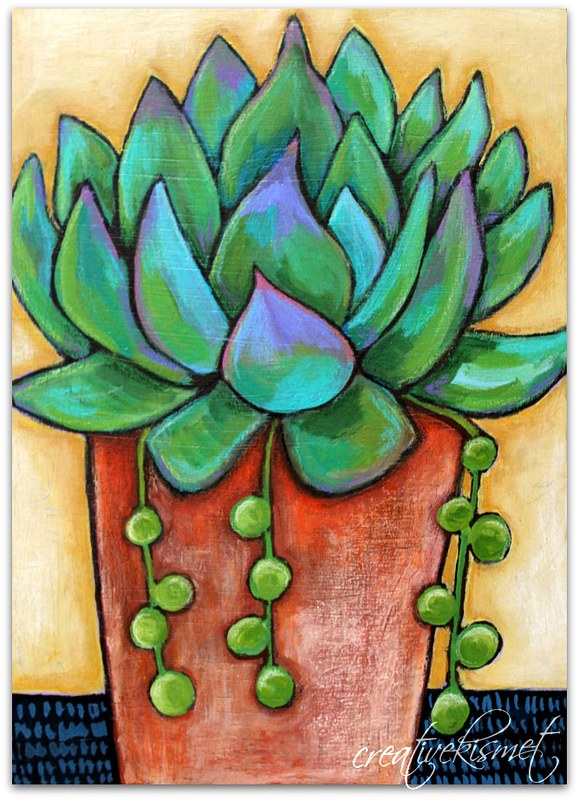 Potted Succulent - Art by Regina Lord