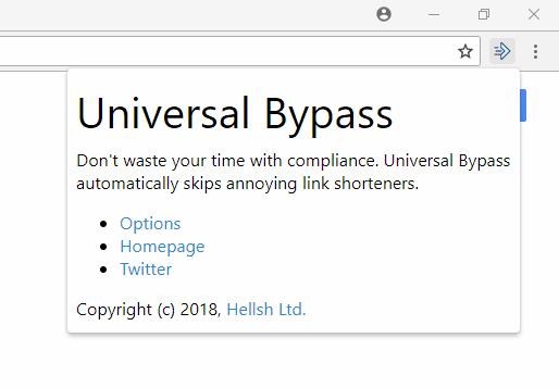 Esta extensión permite saltarse Adf ly, Adfoc us, Linkbucks