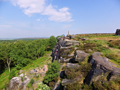 Climbers on Birchen Edge