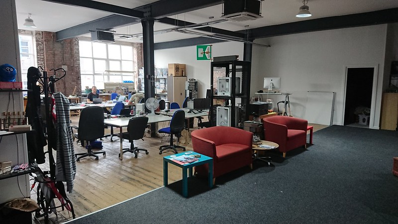 The main room at DoES Liverpool