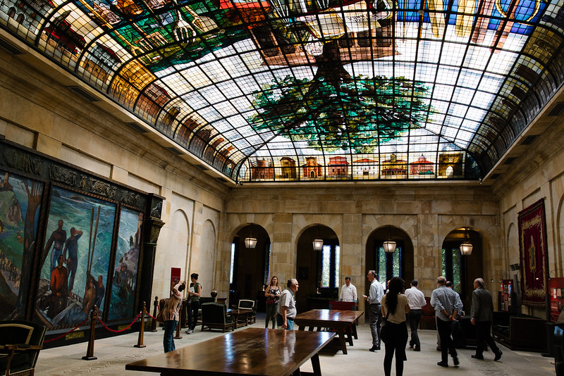 バスク議事堂のステンドグラスの部屋