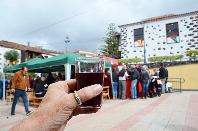 Country wine at a local fiesta, Tenerife