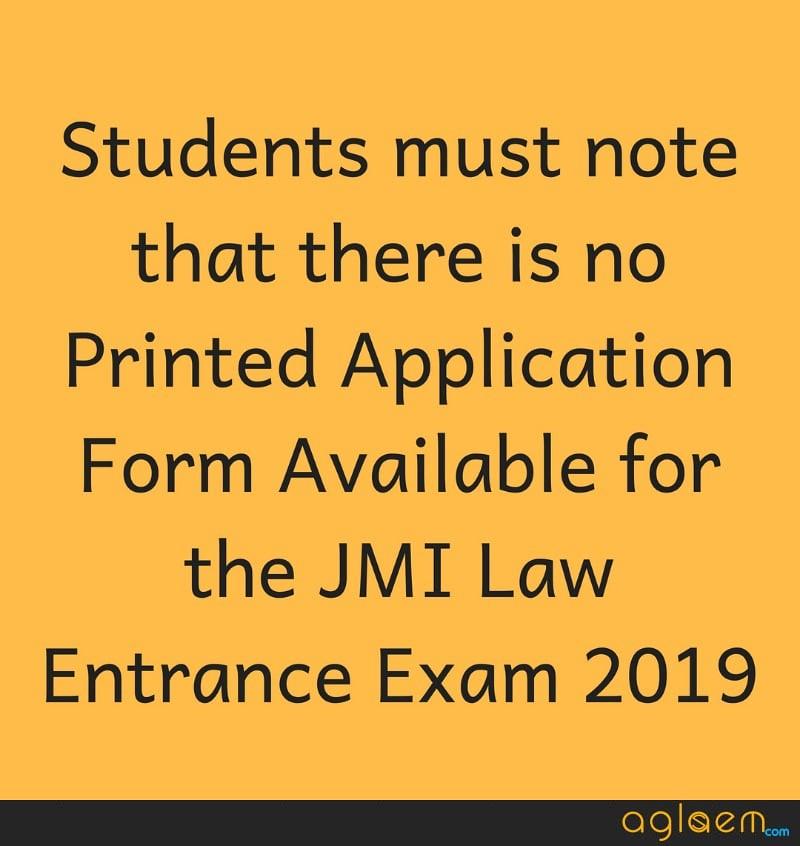 JMI Law Entrance Exam 2019 Application Form