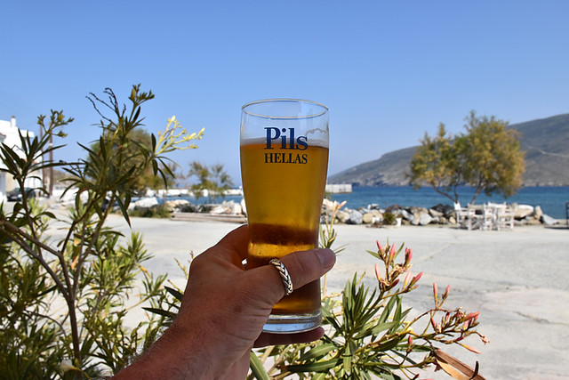 Hellas beer, Ormos, Andros, Greece