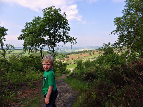 Looking proud after the climb up to Birchen Edge