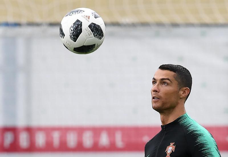 Cristiano Ronaldo為可能生涯最後一次的世界盃備戰。(AFP授權)