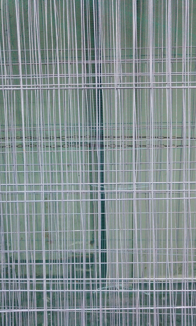 layers of wire fencing