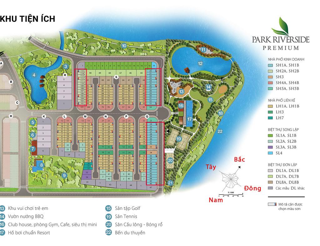 vị trí Shophouse Park Riverside Premium