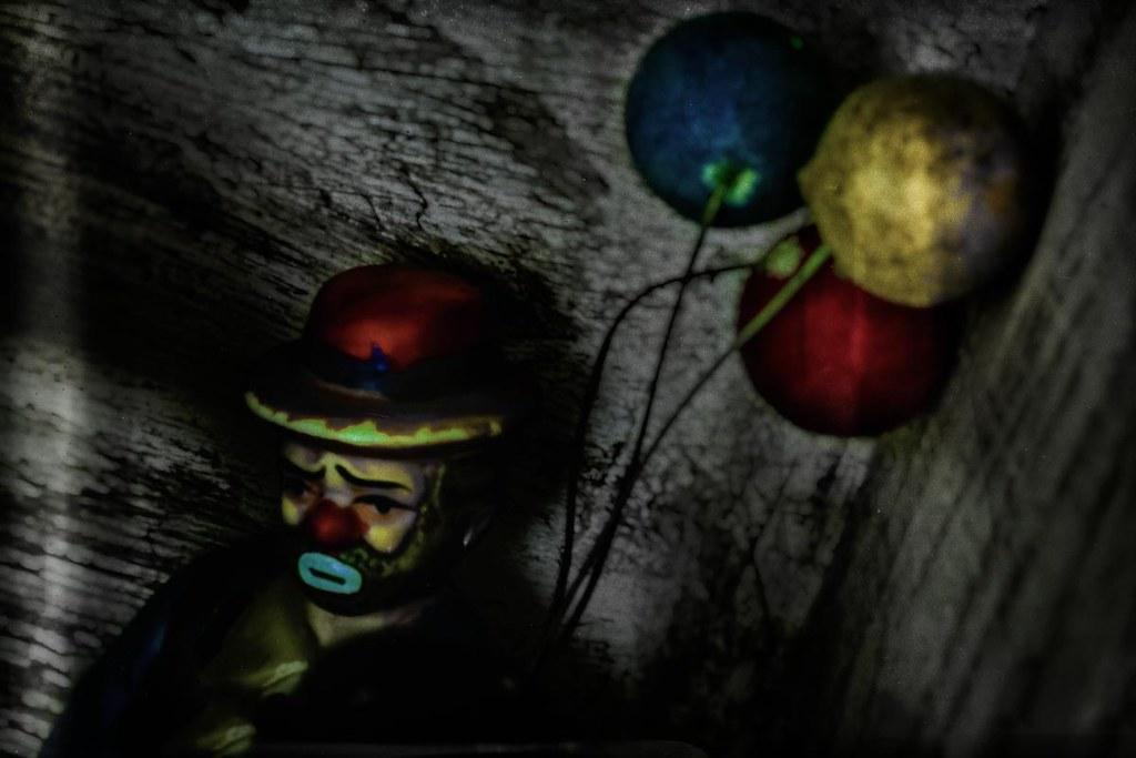 Vintage miniatures hobo clown