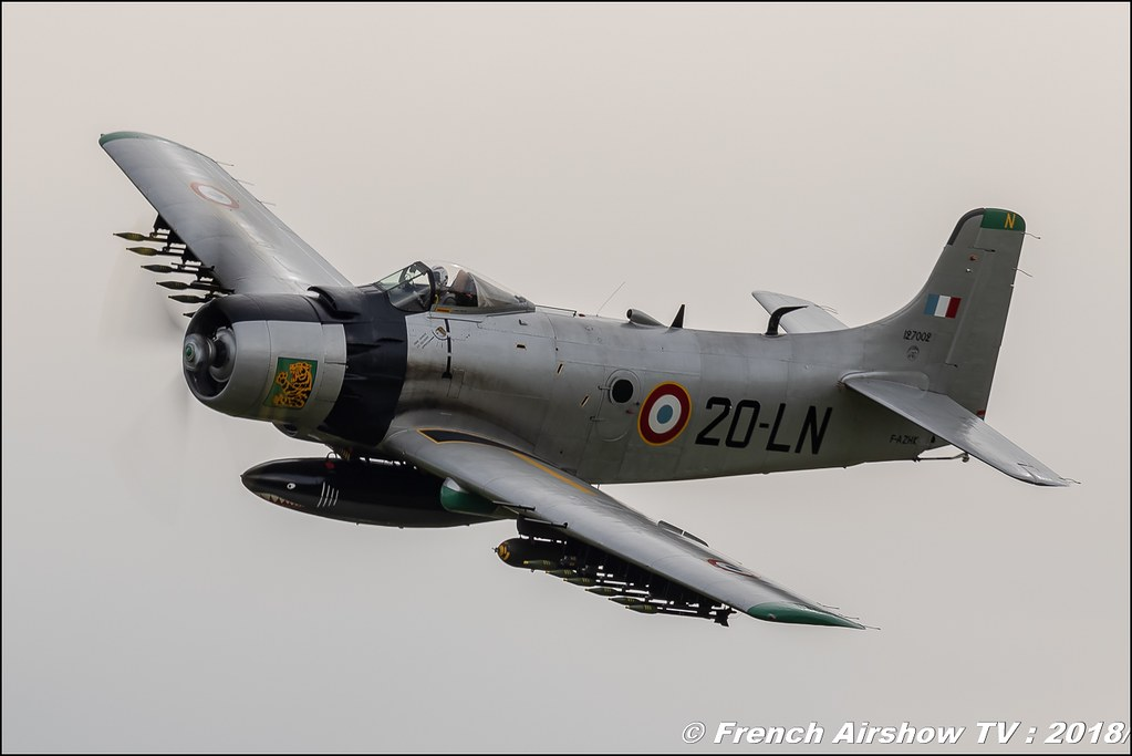 Douglas AD-4N Skyraider - F-AZHK avignon , 32e édition d'Airexpo Muret-Lherm , Airexpo Muret 2018 , Canon EOS , Sigma France , contemporary lens , Meeting Aerien 2018