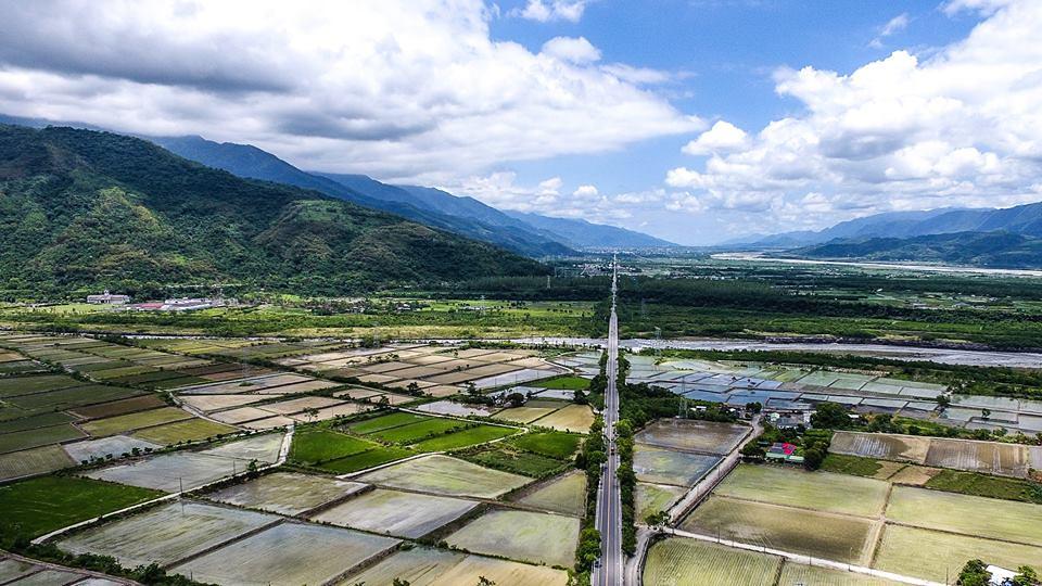 台9線從台東關山鎮到鹿野鄉的武陵路段。圖片來源:交通部。