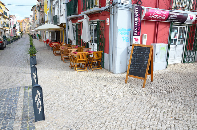 Back street restaurants, Setubal, Portugal