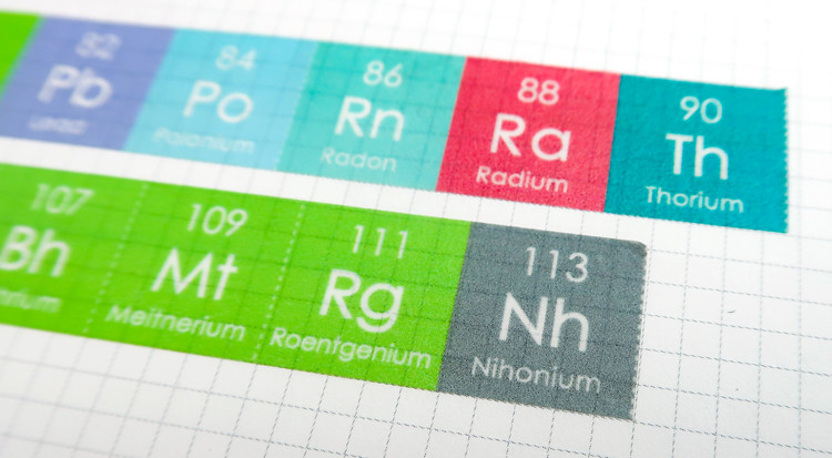 Periodic Table Of Elements Paper Tape Two Sets Gift Packing