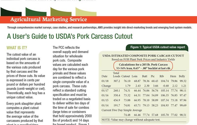 User's Guide to USDA's Pork Carcass Cutout