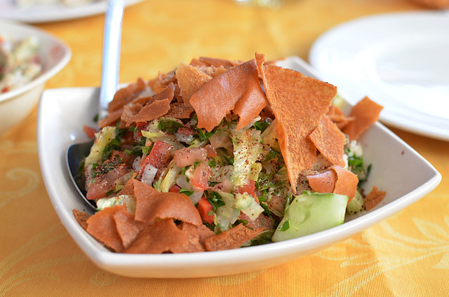 Fattoush salad, Lebanese restaurant, Puerto de la Cruz, Tenerife