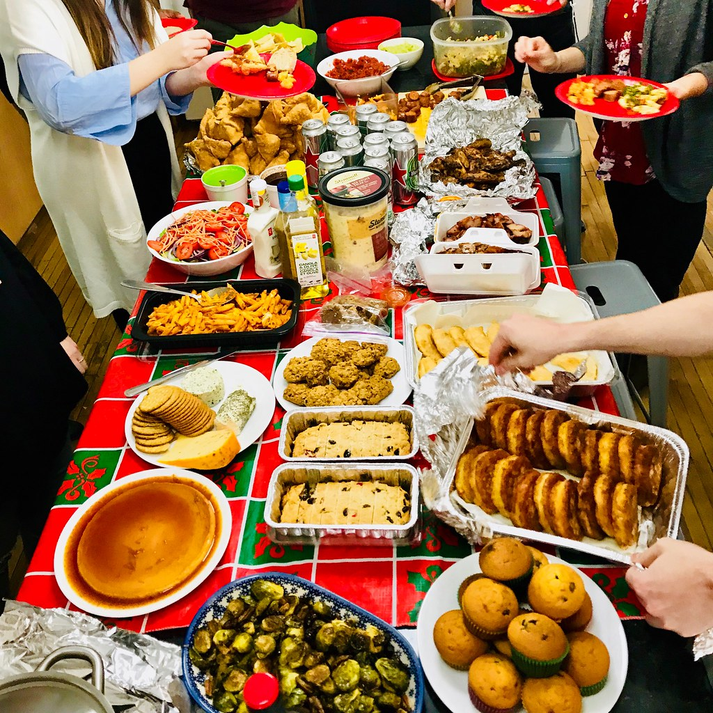 Christmas Potluck At The TutorBright Office