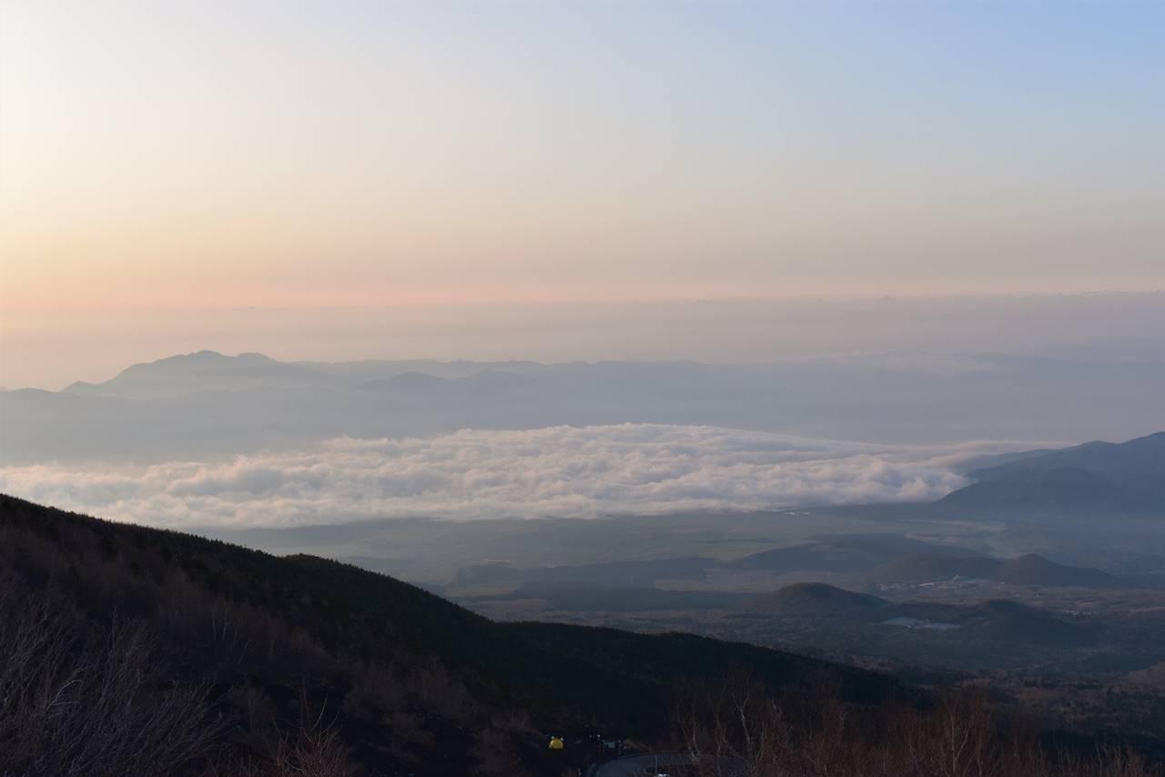富士山から眺める雲海