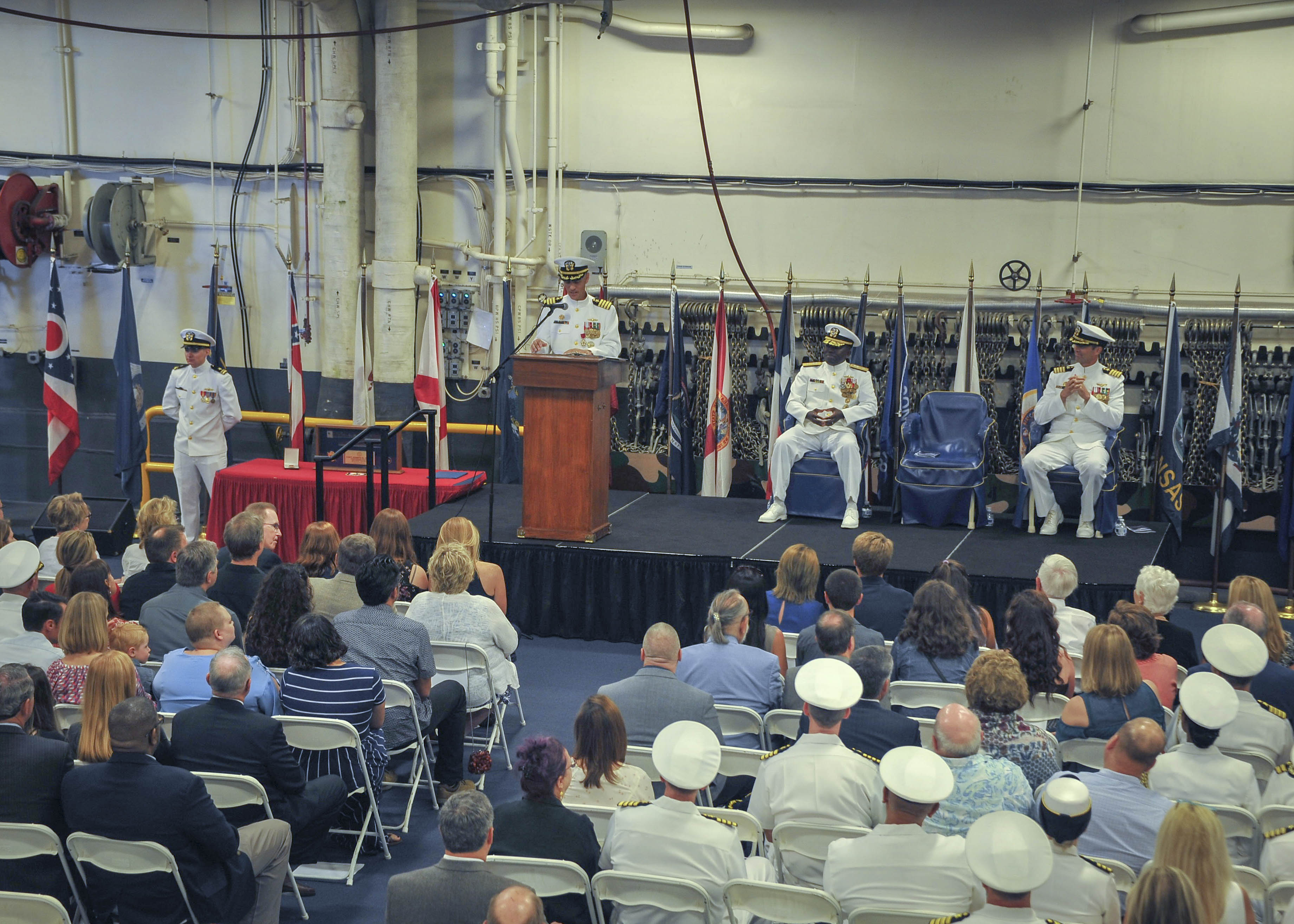SAN DIEGO (NNS) — The amphibious assault ship USS America (LHA 6) held a change of command ceremony while moored at Naval Base San Diego, June 8.