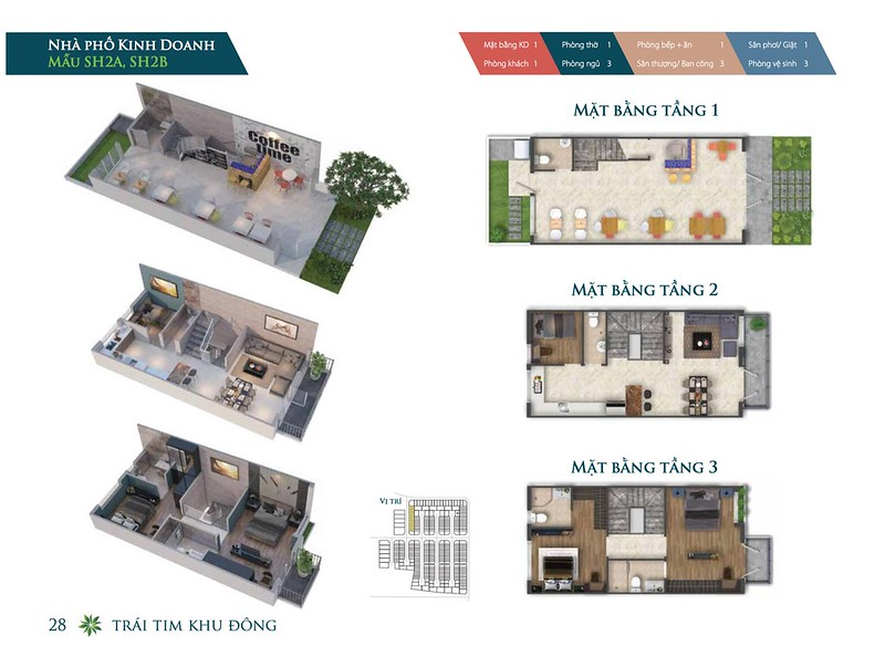 Mẫu thiết kế Shophouse Park Riverside Premium SH2A SH2B